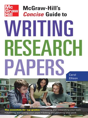 cover image of McGraw-Hill's Concise Guide to Writing Research Papers
