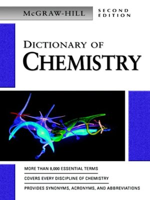 cover image of Dictionary of Chemistry