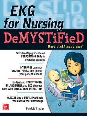 cover image of EKG's for Nursing Demystified