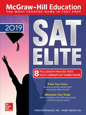 cover image of McGraw-Hill Education SAT Elite 2019