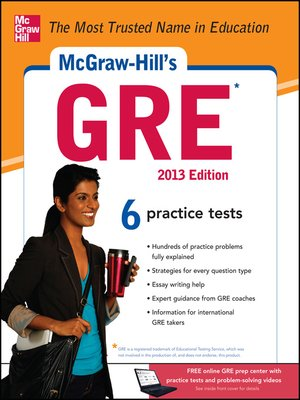 cover image of McGraw-Hill's GRE, 2013 Edition