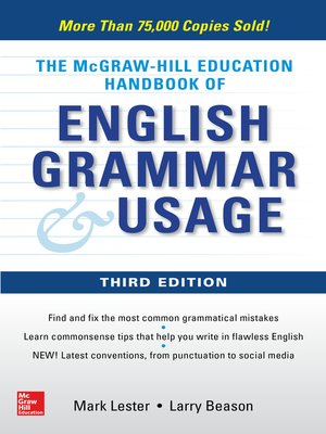 cover image of McGraw-Hill Education Handbook of English Grammar & Usage