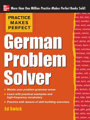 cover image of Practice Makes Perfect German Problem Solver
