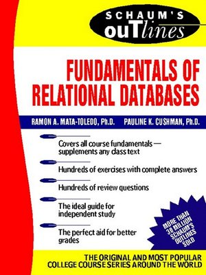Schaums outlinesseries overdrive rakuten overdrive ebooks cover image of fundamentals of relational databases fandeluxe