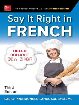 cover image of Say It Right in French