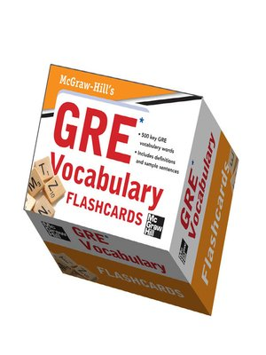 cover image of McGraw-Hill's GRE Vocabulary Flashcards