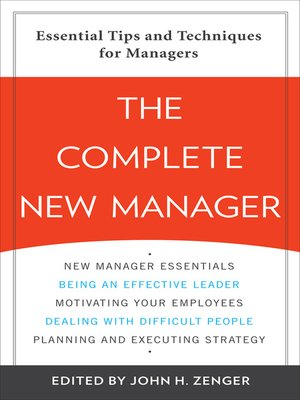 cover image of Complete New Manager