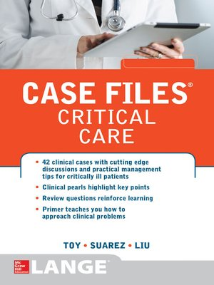cover image of Case Files Critical Care