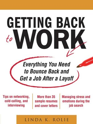 cover image of Getting Back to Work