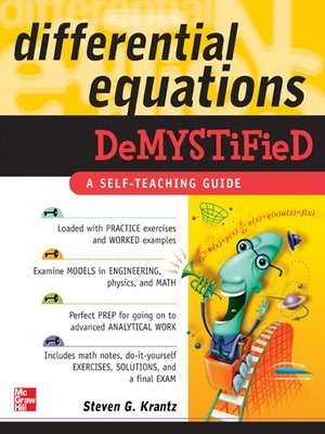 cover image of Differential Equations Demystified