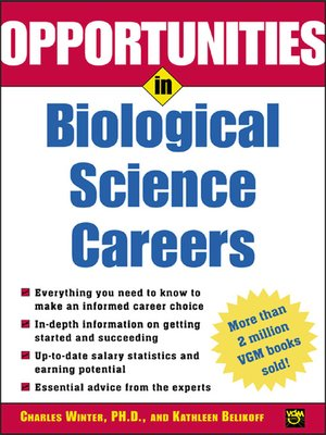 cover image of Opportunities in Biological Science Careers