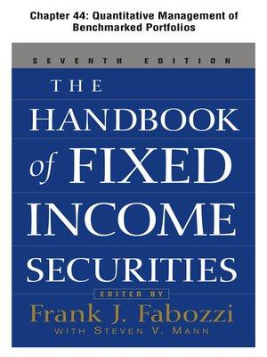 cover image of Quantitative Management of Benchmarked Portfolios