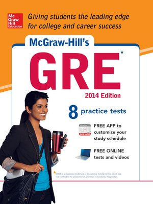 cover image of McGraw-Hill's GRE, 2014 Edition