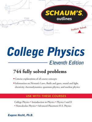 cover image of Schaum's Outline of College Physics