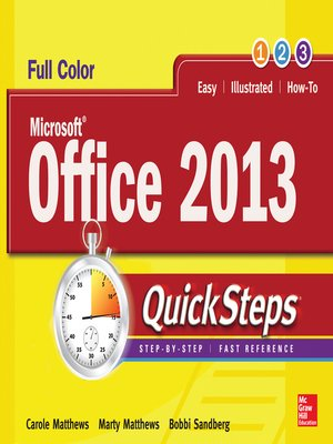cover image of Microsoft® Office 2013 QuickSteps