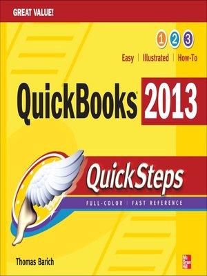 cover image of QuickBooks 2013 QuickSteps