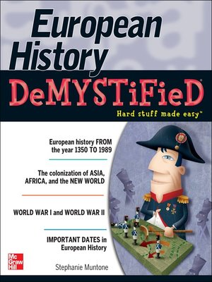 cover image of European History DeMYSTiFieD