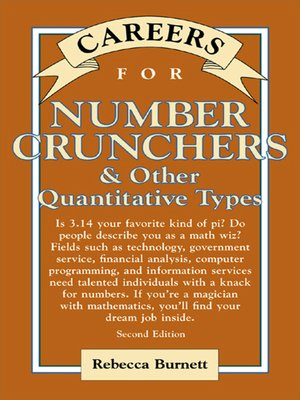 cover image of Careers for Number Crunchers & Other Quantitative Types