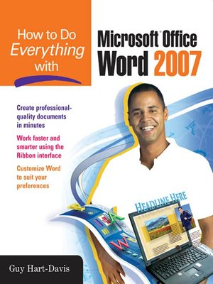 cover image of How to Do Everything with Microsoft Office Word 2007