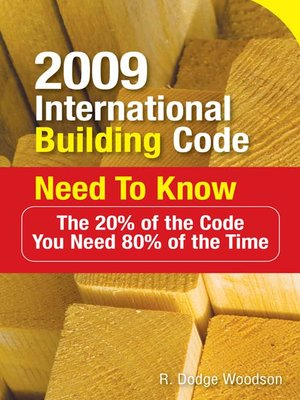 cover image of 2009 International Building Code Need to Know