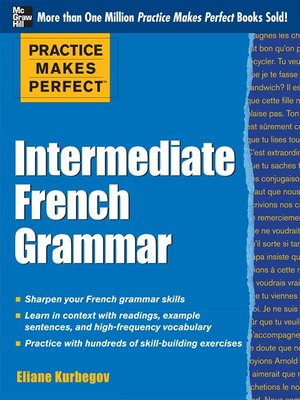 cover image of Intermediate French Grammar