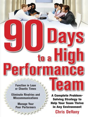 cover image of 90 Days to a High-Performance Team
