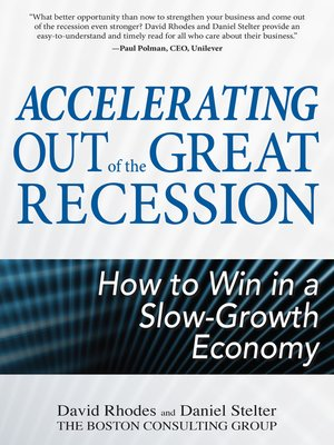 cover image of Accelerating out of the Great Recession