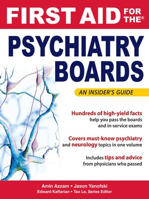 cover image of First Aid for the Psychiatry Boards