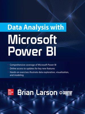cover image of Data Analysis with Microsoft Power BI