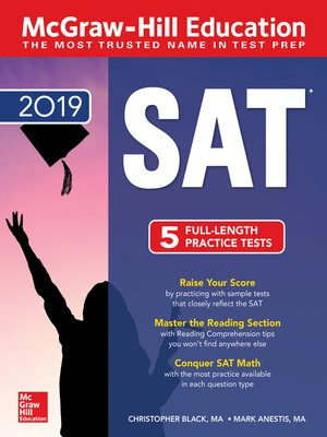cover image of McGraw-Hill Education SAT 2019