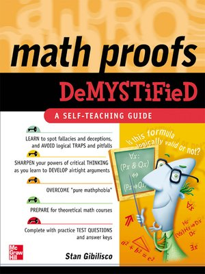 cover image of Math Proofs Demystified