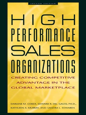 cover image of High Performance Sales Organizations