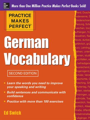 cover image of Practice Makes Perfect German Vocabulary