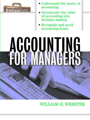 cover image of Accounting for Managers