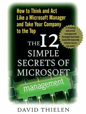 cover image of The 12 Simple Secrets of Microsoft Management