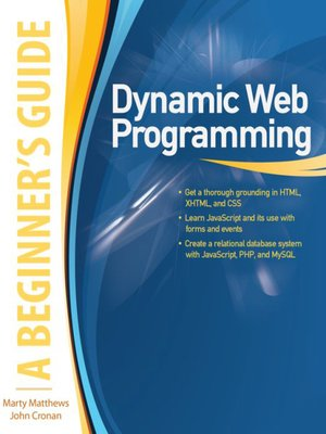 cover image of Dynamic Web Programming
