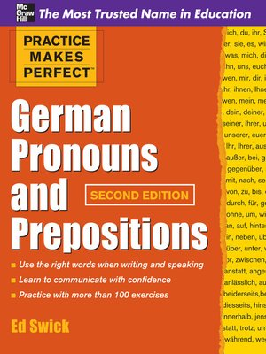 cover image of German Pronouns and Prepositions