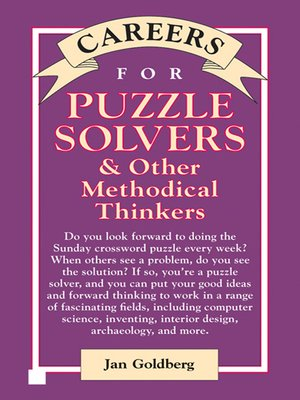 cover image of Careers for Puzzle Solvers & Other Methodical Thinkers
