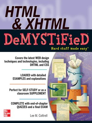 cover image of HTML & XHTML DeMYSTiFieD