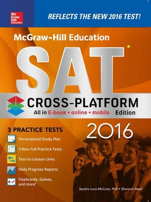 cover image of McGraw-Hill Education SAT 2016, Cross-Platform Edition