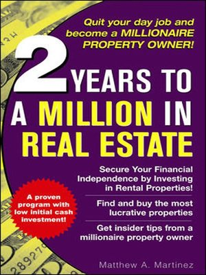 cover image of 2 Years to a Million in Real Estate