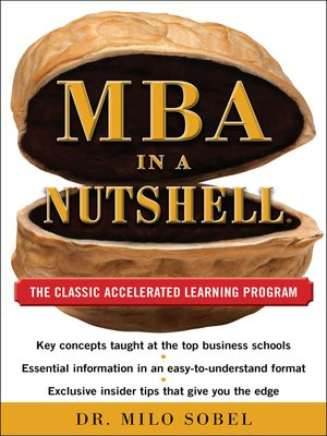 cover image of MBA in a Nutshell