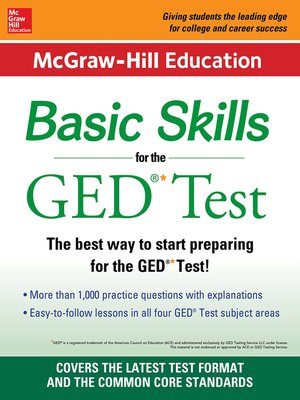 cover image of McGraw-Hill Education Basic Skills for the GED Test