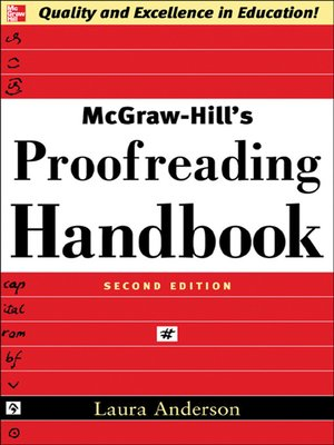 cover image of McGraw-Hill's Proofreading Handbook