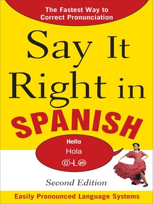 cover image of Say It Right in Spanish