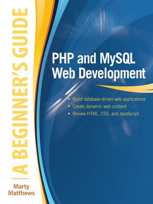 cover image of PHP and MySQL Web Development