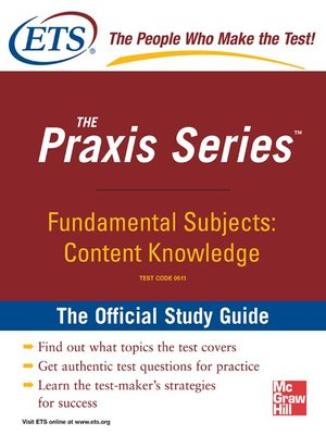 cover image of Fundamental Subjects Content Knowledge