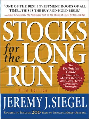 cover image of Stocks for the Long Run, Third Edition
