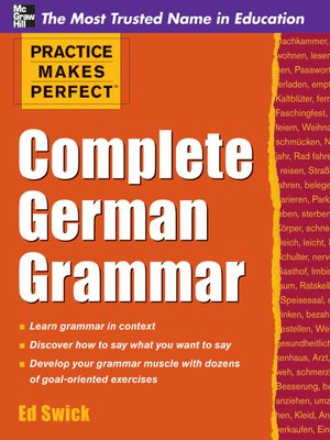cover image of Complete German Grammar