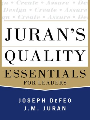 cover image of Juran's Quality Essentials